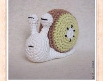 NEW! Kiwi - Amigurumi snail - handmade