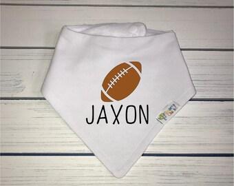 Boys Personalized Baby Bib, Organic Cotton