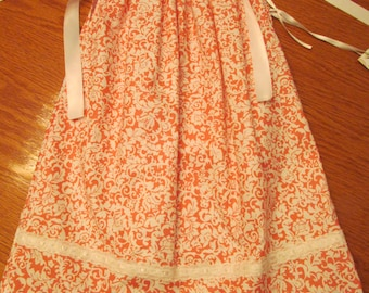 Pink and White Pillowcase Dress - Size 3T/4T
