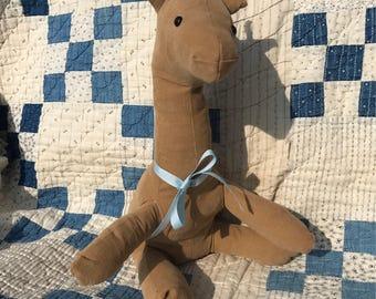 12 inch stuffed giraffe.