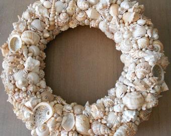 Beach Wreath, Shell Wreath, Coastal Wreath, Beach Decor, Beach Home Decor, SeaShell Wreath, Beach House Gift, Beach Wedding Gift
