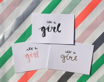 Set of 5 - It's a Girl Card