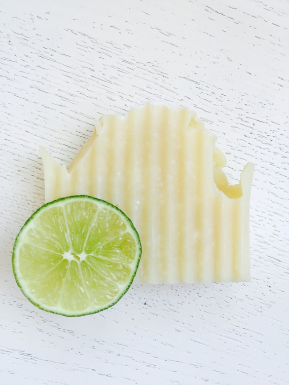 SOAP - Salt and Lime All Natural Organic Coconut Milk Handmade Soap - Coconut Milk Soap - Sea Salt - Vegan - Cold Process