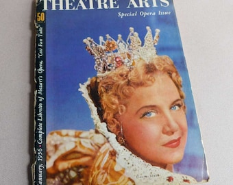 Theatre Arts Magazine January 1956 Special Opera Issue Theatrical Music History
