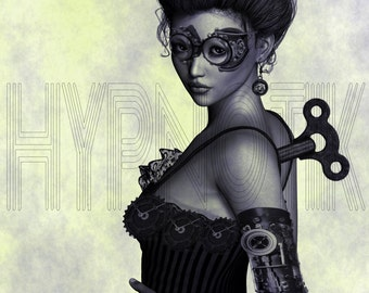 Steampunk Digital Print- Elsia