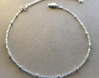 dainty silver choker necklace silver chain choker silver bead necklace delicate choker chain simple chokers for womens everyday jewelry gift