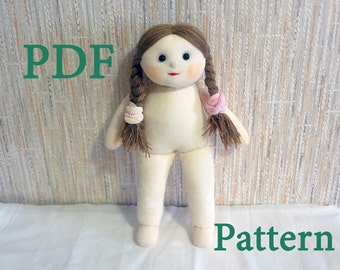 PDF Pattern Sock Doll - How To Quickly Sew Doll From 1 Pair of Socks
