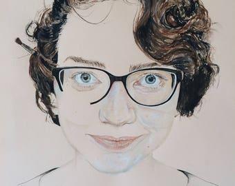Custom Portrait Original Watercolour Painting A4