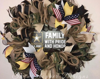 US Army Wreath,Army Gift,US Army Door Decor,Front Door Decor,Front Door Wreaths,Army Door Wreath,Wreaths,Wreath,Front Door Sign,Door Hanger