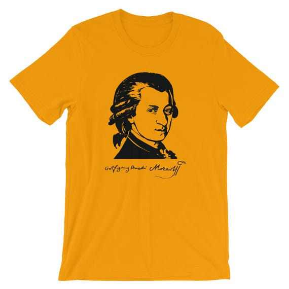 Wolfgang Amadeus Mozart With Signature tshirt - Perfect Gift for Fans of Classical Music 0KSuj