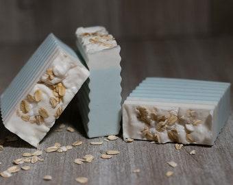 Baby Powder Oatmeal Shea Butter Goats Milk Soap Bar