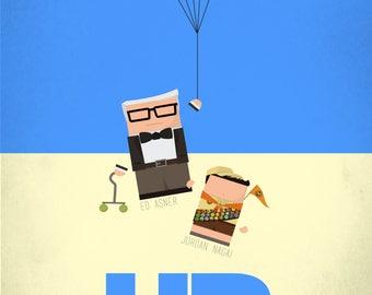 Up- Digital Artwork Poster