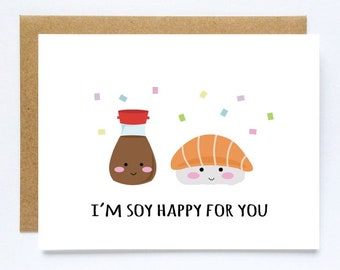 High School Graduation Card Funny Sushi Cards Celebratory Cards Cute Sushi Cards College Graduation Funny Grad Card Congratulations Card