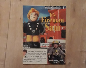 Fireman Sam Knitting Pattern, Fireman Sam Sweater Knitting Pattern, Fireman Sam Toy Knitting Pattern