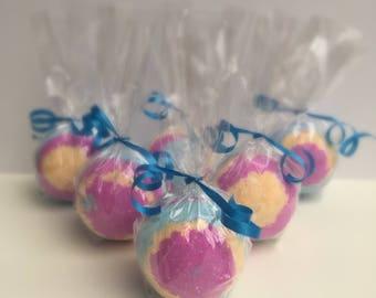 Unicorn Bath Bomb, rainbow colours, kids bath bomb, handmade bath bombs UK.