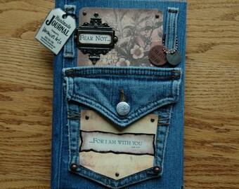 Handmade Journal 'FEAR NOT'- Notebook - Diary - Sketchbook - Vintage  Designed