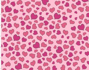 New Fabric ~ Mini Hearts Pink Color ~  Love Your Look Salon Collection by Loralie Harris for Loralie Fabrics
