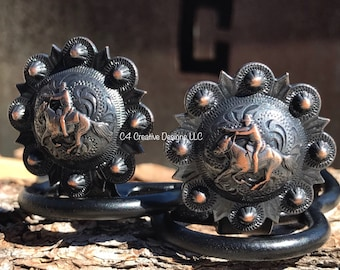 Mounted, Shooter, Design, Pattern, Conchos, Cuff Keepers, Horse, Rodeo, CowGirl Up, Mom, Sister, Aunt, Wranglers, BFF, Students,  1 1/4""