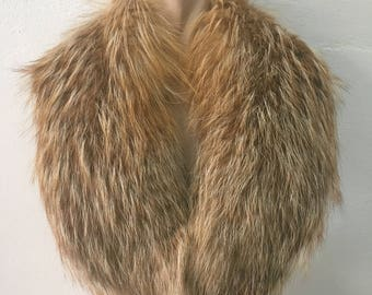 Beautiful Real Natural Golden Island Fox Fur Collar