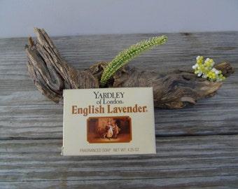 Fragranced Soap Bar 1990 Vintage Yardley of London English Lavender