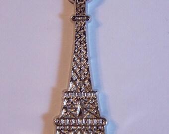 ❥ Pendant / charm eiffel tower monument paris silver tone plastic