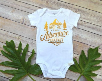 Pregnancy Announcement, The Adventure Begins, Pregnancy Reveal, Expecting Baby shirt, Baby Announcement, Baby Reveal, And so the adventure,