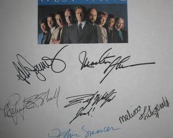 The West Wing Signed TV Script Screenplay Autograph X11 Rob Lowe Martin Sheen Allison Janney Aaron Sorkin Moira Kelly Dule Hill John Spencer
