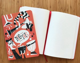 The Age Of Jazz: Dig This! Lined Notebook
