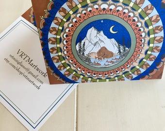 Bear Mandala Card