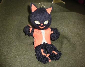 Yarn Halloween Black Cat