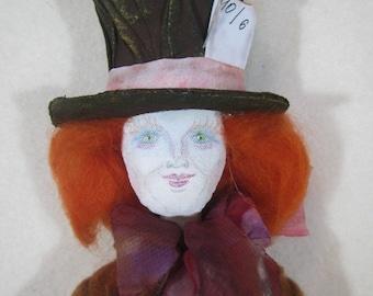 Tilda Mad Hatter in wonderland, OOAK Mad Hatte, Doll Mad Hatte, doll The Hatter, The Mad Hatter, Art Doll, Decor doll Hatter, Hatter doll