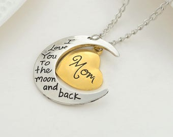 Love you to the moon and back Charm or with chain