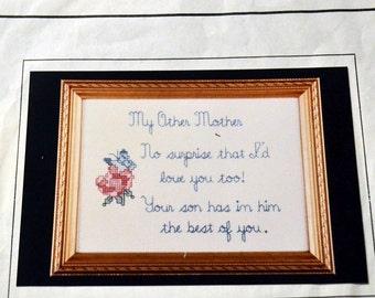 "Counted Cross Stitch Pattern ""My Other Mother""  by Sandi Phipps Cross Stitch Patterns Fiber Art"