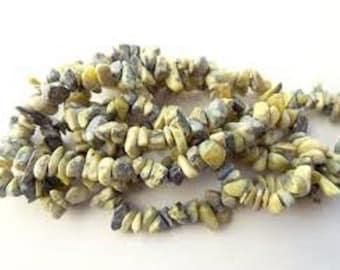 "WHOLESALE - Natural Yellow Turquoise Medium Gemstone Chips (Three 34"" Strands)"