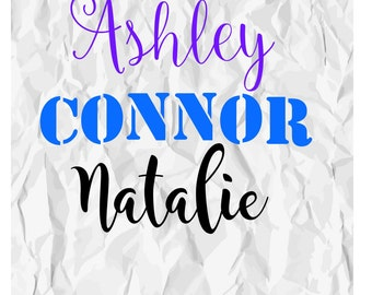 Personalized Name Vinyl Decal, Name Vinyl Decal, Custom Name Decal, Yeti Decal, Tumbler Decal,