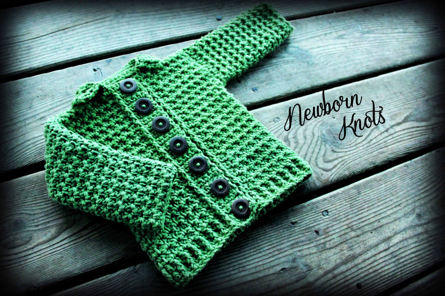 Crochet Baby Sweater Pattern Baby Boy or Girl Ribbed Collar