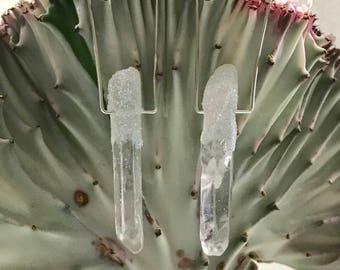 Celestial Crystal Point Earrings
