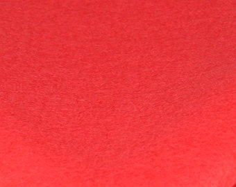 Bamboo and Rayon Eco Felt - Macaw Red