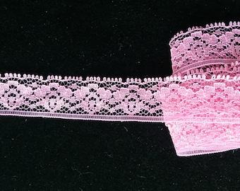 Vintage pink lace with floral design