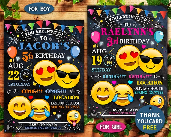 Free Birthday Emojis ~ Emoji invitation emoji birthday invitation emoji emoji