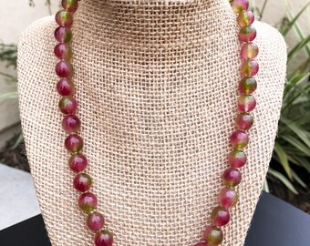 Bright Watermelon Quartz Necklace