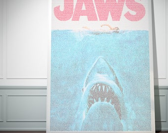 Jaws. Typographic Movie Poster Script Print