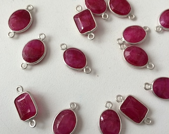 925 sterling silver beautiful pink leb tasted ruby mix shapes canactors