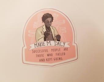 Marie M Daly Vinyl Sticker