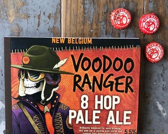 Recycled Six Pack Notebook New Belgium Voodoo Ranger Pale Ale
