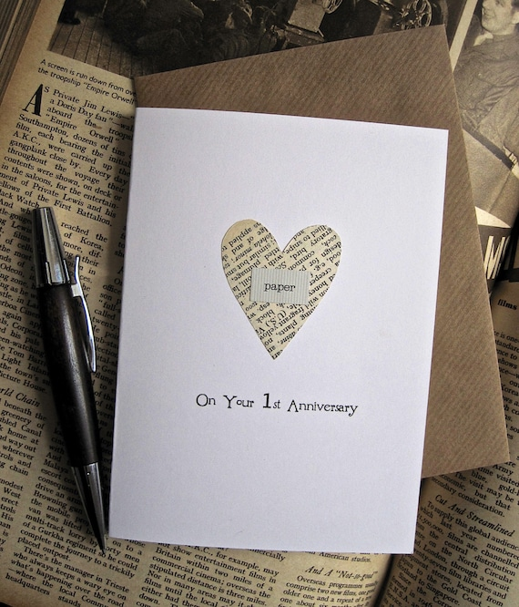 Gift For Husband On 1st Wedding Anniversary: Items Similar To 1st Anniversary Keepsake Card Husband