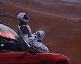 Red Car on the Red Planet