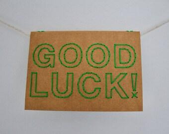Good luck!   Hand sewn A6 card