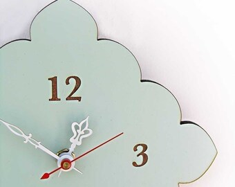 tiny scallop clock
