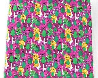 barney the dinosaur  fabric